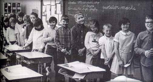 Members of Jane Ellliot's 1969-70 third-grade class, featured in A Class Divided