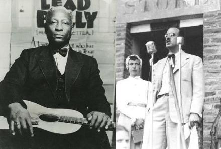 Leadbelly (l) and Louis C. Jones (r)