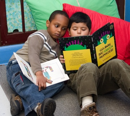 Children reading at a Head Start center in St. Louis, MO.