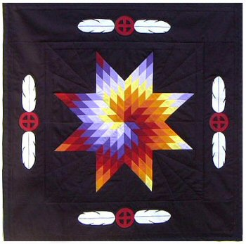 Mitakuye Baby Feathers Star Quilt, from liberalstreetfighter.com