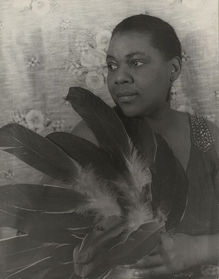 Bessie Smith.  Photo by Carl Van Vechten, public domain