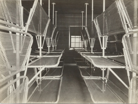 Dormitories at Angel Island Immigration Station. Photo by Hart Hyatt North from wikimedia commons.