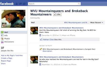 """Brokeback Mountaineers"": there's even a Facebook page"