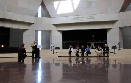 The Hall of Remembrance, U.S. Holocaust Memorial Museum, photo courtesy of Wikimedia Commons