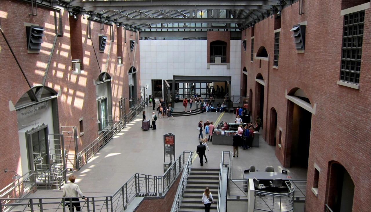United States Holocaust Memorial Museum interior courtesy of Wikimedia Commons