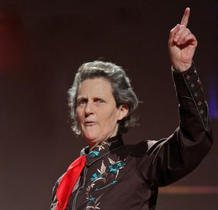 Temple Grandin giving a TED Talk