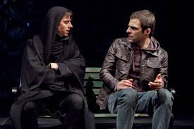Louis and Prior in an Off-Broadway 2011 production of Angels in America.