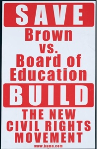 Save Brown v. Board of Education, 2003. Poster. Prints and Photographs Division, Library of Congress (220).