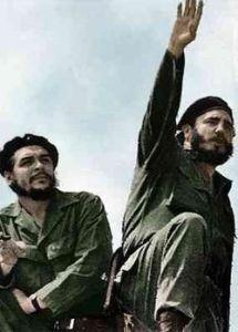 Cuban Revolution leaders Fidel Castro and Che Guevara.