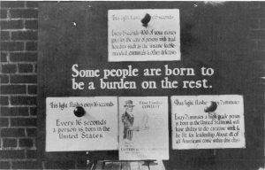 United States Eugenics Advocacy Poster. Licensed under Fair use via Wikipedia : http://en.wikipedia.org/wiki/File:United_States_eugenics_advocacy_poster.jpg