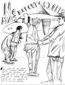 NO MAS DEPORTACIONES, by Luis Alberto Rodriguez-Arenivar.