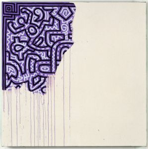 Keith Haring (American, 1958–1990). Unfinished Painting, 1989. Courtesy of Katia Perlstein, Brussels, Belgium ©Keith Haring Foundation