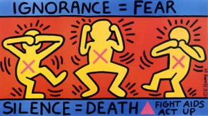Keith Haring/Keith Haring Foundation Ignorance = Fear, 1989