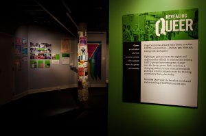 Entrance to the exhibition Revealing Queer