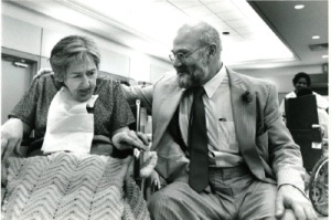 """Oliver Sacks with one of his patients from """"Awakenings"""""""