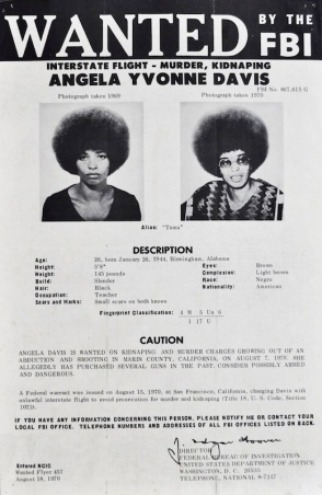 Angela Davis Wanted Poster (Collectorsweekly)