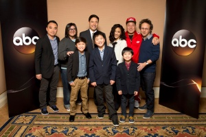 "The cast and executive producers of the TV show ""Fresh Off the Boat"""